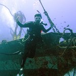 Diving at the Carthaginian wreck.
