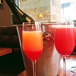 Mimosas with brunch