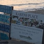 Restaurant open signage on the beach