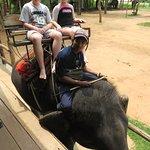 Kids ready for their elephant trek - Kanchanaburi (06/Apr/17).