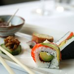 Sushi rolls and some nibbles for Sake tasting