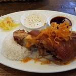 Tender pork Knuckle with delicious crispy skin! The meat just fell off the bone!