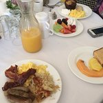 Breakfast included with evening's stay.