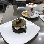 Lemon tart and chocolate top hat very delicious