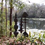 Sculptures on lake