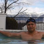 I love the year-round swimming pool. Beautiful snow-capped mountains.