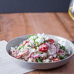 Healthy and fresh salads pair beautifully with local wine