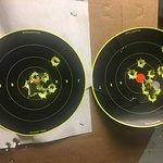 my targets at the Scottsdale Gun Club