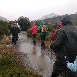 Sendero desde Campamento Poinceton a Laguna Capri, bajo la lluvia