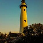 St. Simons Lighthouse with the setting sun