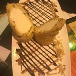 Fried macademia nut ice cream