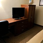 Nice sized TV and desk area