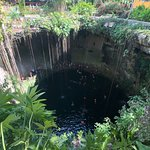 View of Ik Kil cenote from above