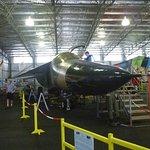 F 1 11 fighter jet at the Evans Head Memorial Aviaiton Museum.