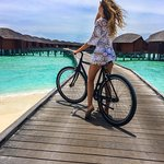 Over water villas and bike transportation