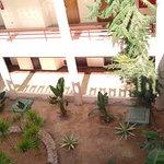 Innenhof, Zugang zu den einzelnen Hotelzimmer