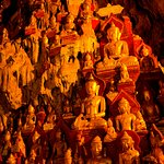 Thousands of Buddha Statues are housed in the cave