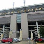 front of Tiger Stadium