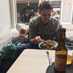 Noodles, Kombucha and baby :)