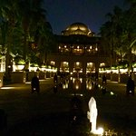 Grounds of the Palace at night