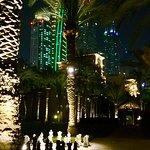 Palace grounds at night