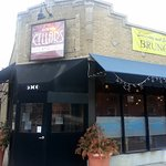 corner entrance to Cellars Bar & Grill