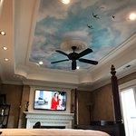 Ceiling mural in Italian suite.