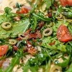 Пицца с хумусом