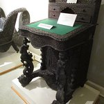 a desk carved in India for the English