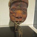 a shrunken head from Ecuador