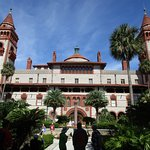 Hotel Ponce de Leon, two towers are part of the water filtration system. Now Flagler College.