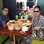 Pigging out on exotic & delicious dim sum with my friend, Nardie Presa.