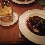 The lamb, with chips as I can't eat cheese