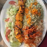 The amazing chicken kabob plate