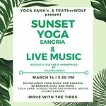 Special event at the studio -- Sunset yoga Sangria and live music