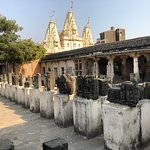 Rows of ruins from Somnath temple attacks are labeled and presented in the courtyard of the Muse