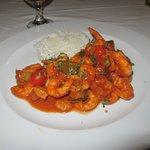 Shrimp in spicy tomato sauce