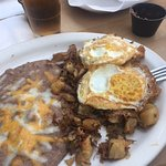 Carnitas Hash with eggs