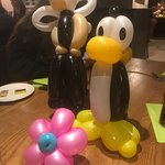 Lovely meal and great Entertainment from David The Master Balloon Artist !