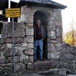 Me standing inside Zum Turken SS Guardhouse