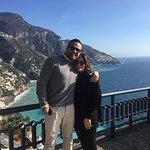 My granddaughter with Francesco on Amalfi Coast