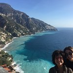 Taylor and I on the way to Positano