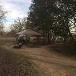 We stayed in campsite #62 and it was huge! Had room for 2 6-person tents and our 14x14 canopy!