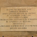 Targa commemorativa