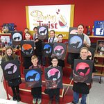 Kids' painting classes at Painting with a Twist