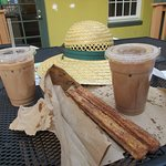 churros and iced mocha