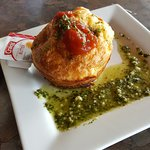 Savoury Muffin with Pesto.