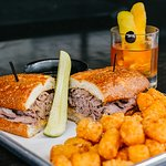 Beef Dip, Tots, and an Old Fashioined