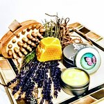 100 % Solar Power Bees Wax , Lavender Lush cuticle/hand cream