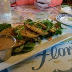 Fried green tomatoes done vegan. Wow!